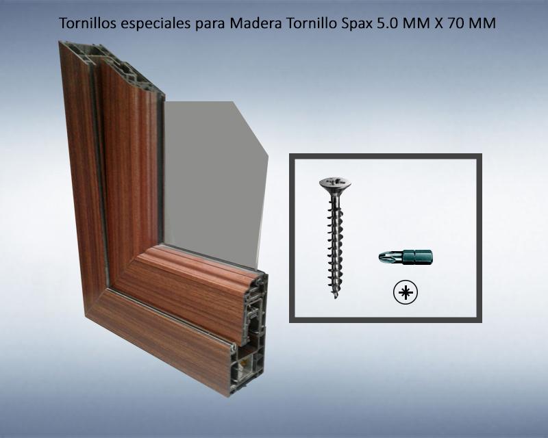 Tornillos especiales para Madera Tornillo Spax 5.0 MM X 70 MM