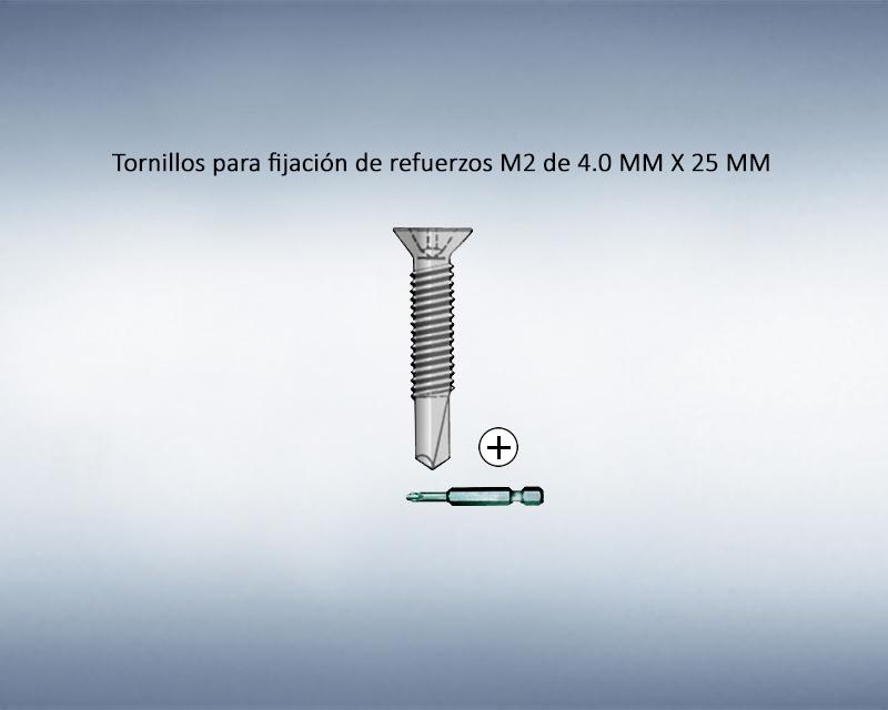Tornillos para fijación de refuerzos M2 4.0 x 25
