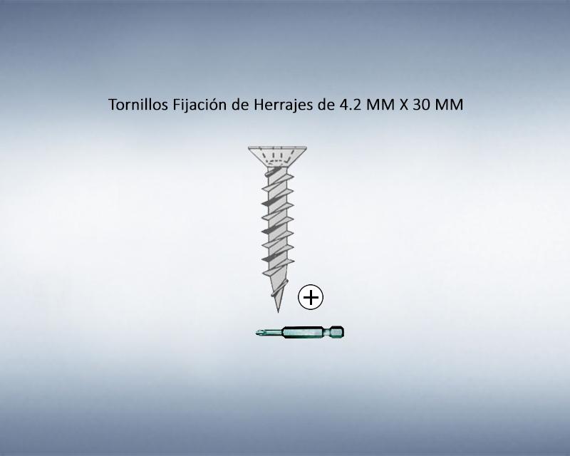 Tornillo para Fijación de Herrajes 4.2mm x 30mm