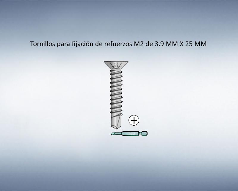 Tornillo para fijación de refuerzos M2 de 3.9mm