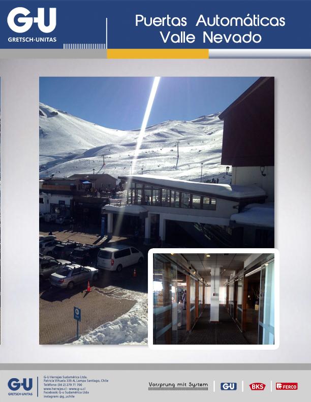 Puertas automáticas Valle Nevado